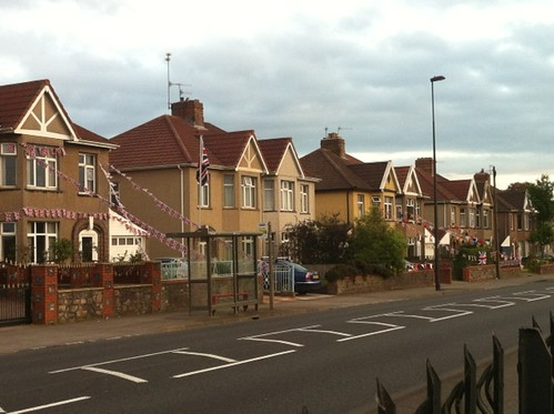 I saw this yesterday. I like to think those middle houses REALLY hate the Jubilee. by benparkuk