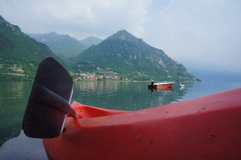 Open top kayaking on Lago d'Idro
