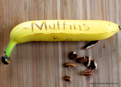Buttermilk Banana Pecan Muffins