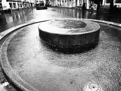 Zwei der drei Judd-Brunnen, Steinberggasse Winterthur