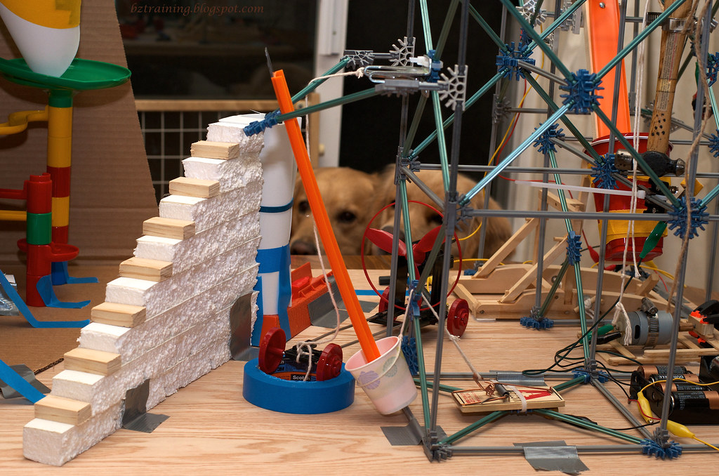how to make a rube goldberg machine pop a balloon
