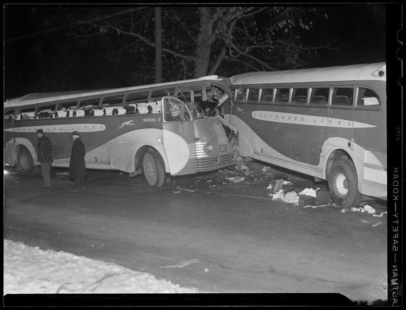 Accident involving two N.Y.-Boston buses in Sudbury