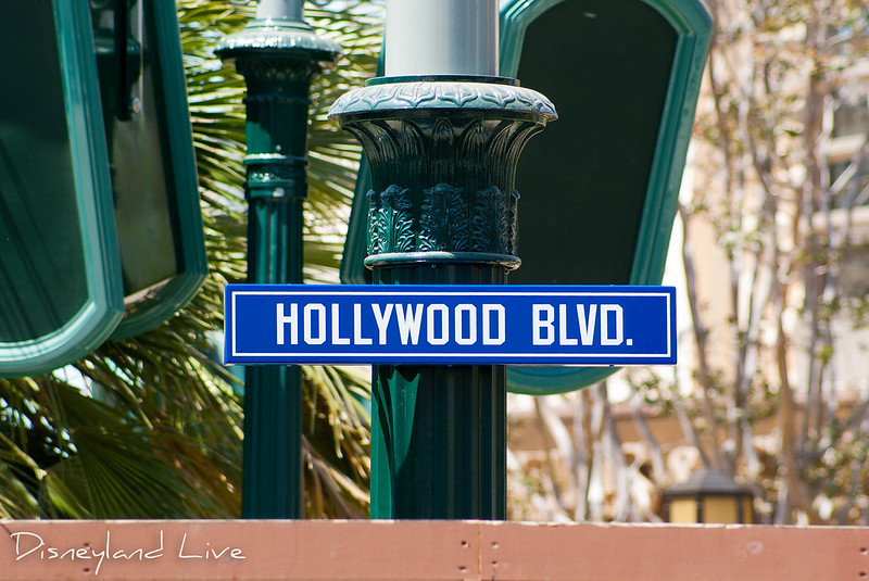 Buena Vista Street Construction - Hollywood Blvd Sign