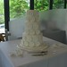 White Gerbera Wedding Cake