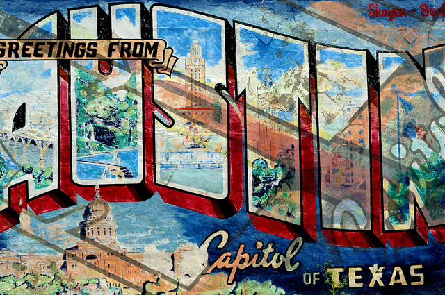 Austin texas postcard mural 29734 flickr photo sharing for Austin postcard mural