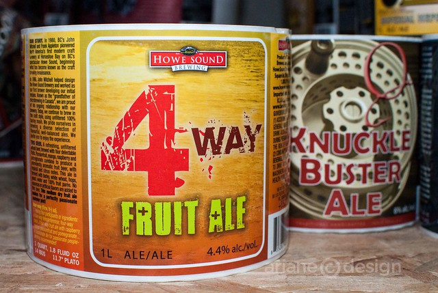 4 Way Fruit Ale, Knuckle Buster Ale labels