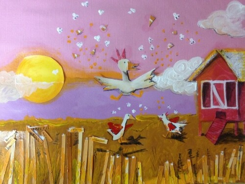 """Chicken Coop Celebration"" by {K}Mericks Studio"