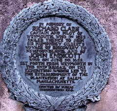 Photo of Richard Clark and John Endicott bronze plaque