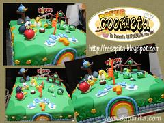 ABHI ANGRY BIRD CAKE