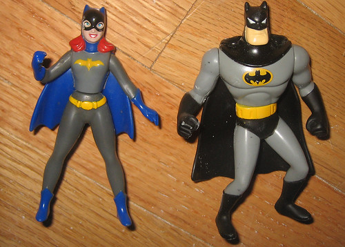 20120519 - yardsale booty - toy - action figure - Batgirl & Batman action figures - IMG_4210