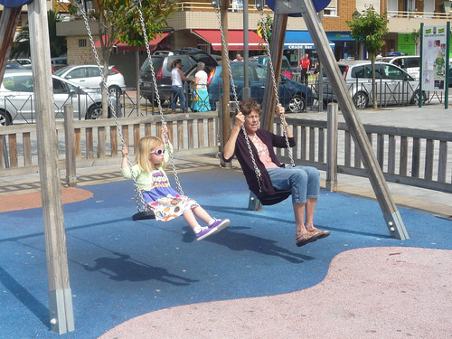 Swinging in the park