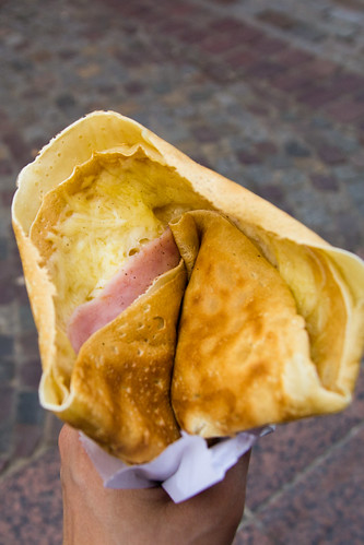 Jambon-Fromage Crepe at Ulysse in Paris