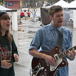 The London band joins us on a rainy morning to perform 'Unkinder (A Tougher Love)' on a wet and backwards stage. Photo by Laura Fedele