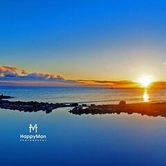 Blue Sunset #basseTerre #GuadeloupeMaTerreHappy #dream #paradise #love #Sunset #Reflection