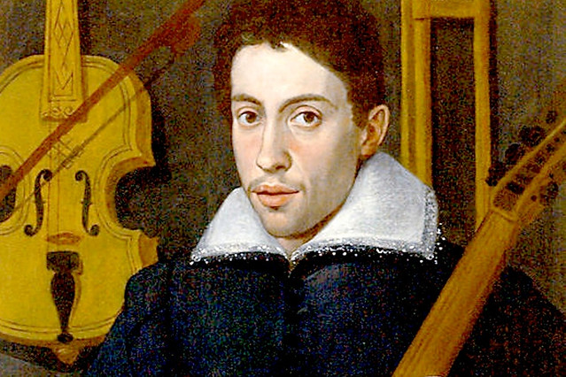 Claudio Monteverdi as a young man, c. 1597. Artist unknown.
