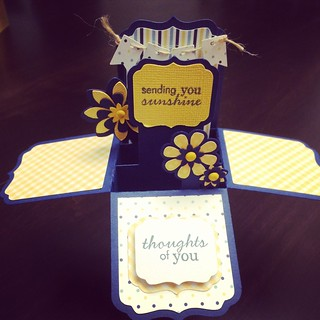 Box Card cut with Silhouette Cameo