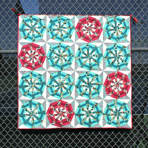 Wheels in the Sky - pattern in Mar/Apr 2014 issue of Quilty