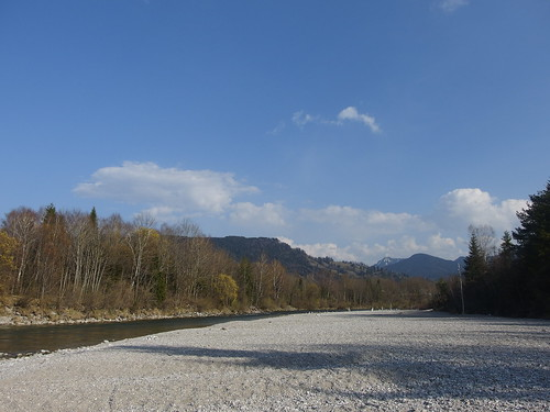 Isar River Beach Pebble Pebbles Flussufer Kieselstrand Kiesel
