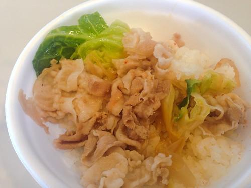 UTMボランティアの豚すき丼