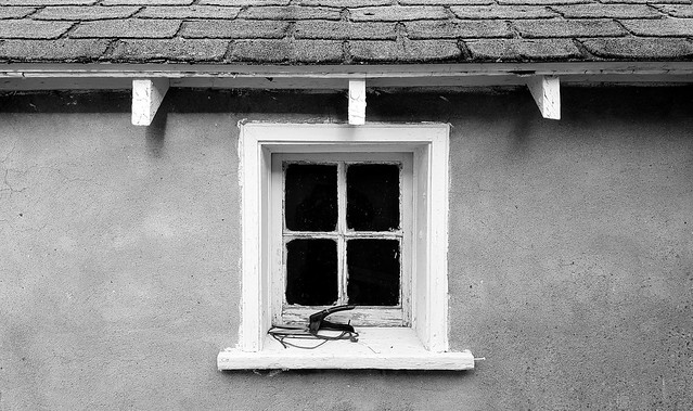 Window and wall (B&W)