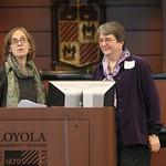 Anita Weinberg introduces Dr. Helen Binns
