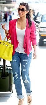 Kim Kardashian Pink Blazer Celebrity Fashion Style