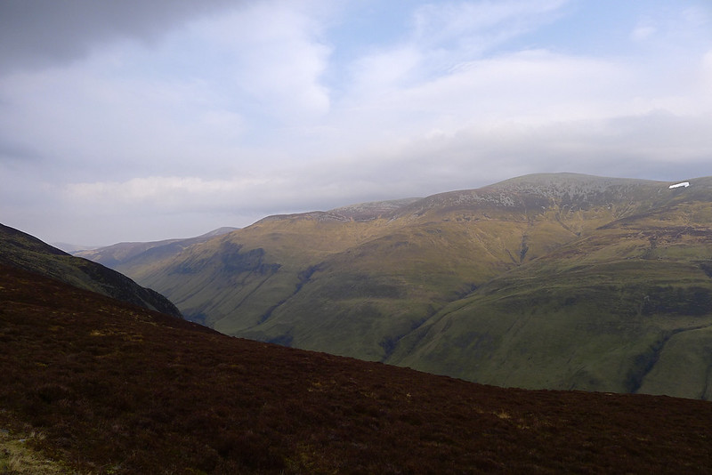 Beinn a' Ghlo across Glen Tilt