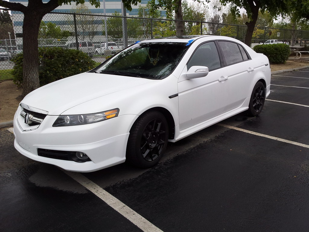 Sell Used 2008 Acura Tl Type S White Diamond Pearl Black