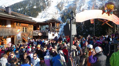 El aprés ski Mooserwirt de St. Anton