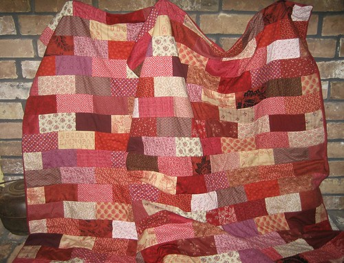 two red brick quilts