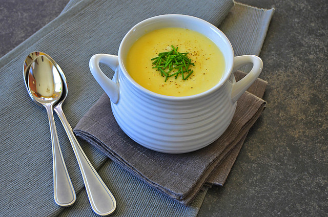 Roast Parsnip and Garlic Soup