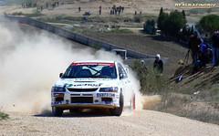 V Tramo cronometrado de tierra Loeches 2012 - Julian Vera/Miriam Vera - Mitsubishi Lancer Evo VII