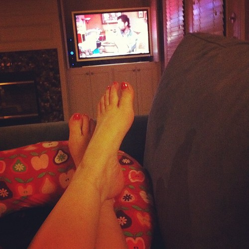 {Day 29} Putting my #feet up & rewatching Mad Men