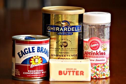 Brigadeiros ingredients