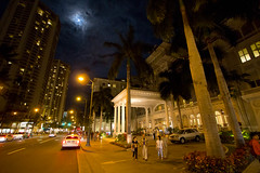 Full Moon over the Moana - Kalakaua Avenue