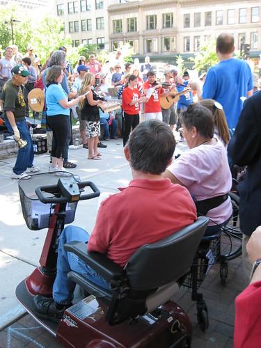 Wheelchair solidarity