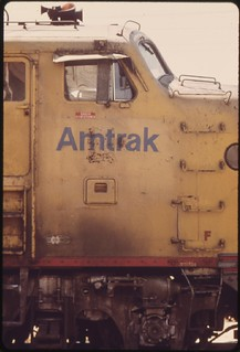 Old engine which pulls the Inter-American, June 1974