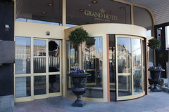 Entrance of the Grand hotel in Stockholm where the DMM was held