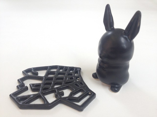 Satin Black 3D Printed Ceramics at Shapeways