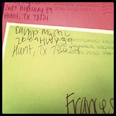 June 7, 2012 - got two letters today! Love my babies!