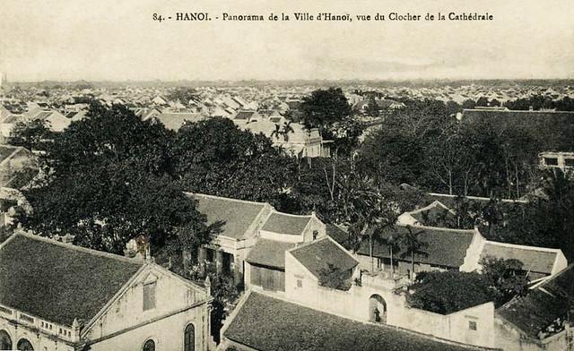 Toàn cảnh phố cổ Hà Nội nhìn từ tháp chuông Nhà thờ Lớn