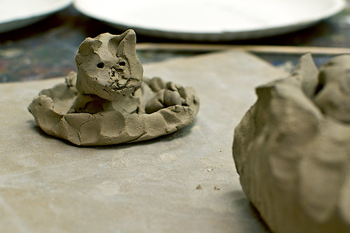 Clay kitty.
