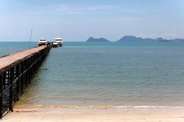 Boat jetty, Koh Tao