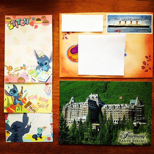 #letter #postcard #memopaper #stationery #stitch I received today