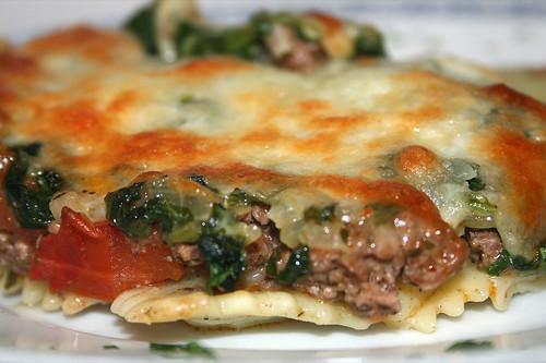 37 - Ravioli-Spinat-Gratin / Ravioli spinach au gratin - CloseUp