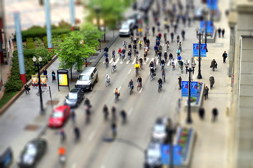Chicago Critical Mass Tilt Shift
