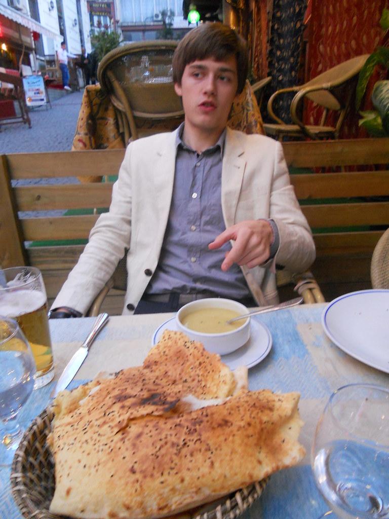 Waylon at Istanbul restaurant