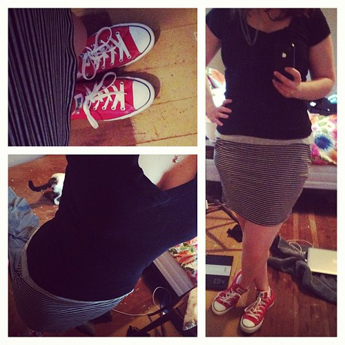 Don't you dare tell me my red chucks don't match my miniskirt. It's just that kinda day.