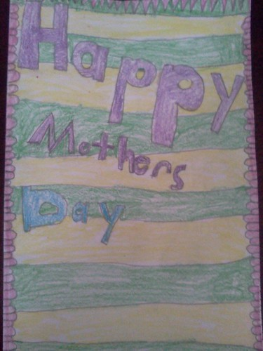 Mother's Day card from Troy