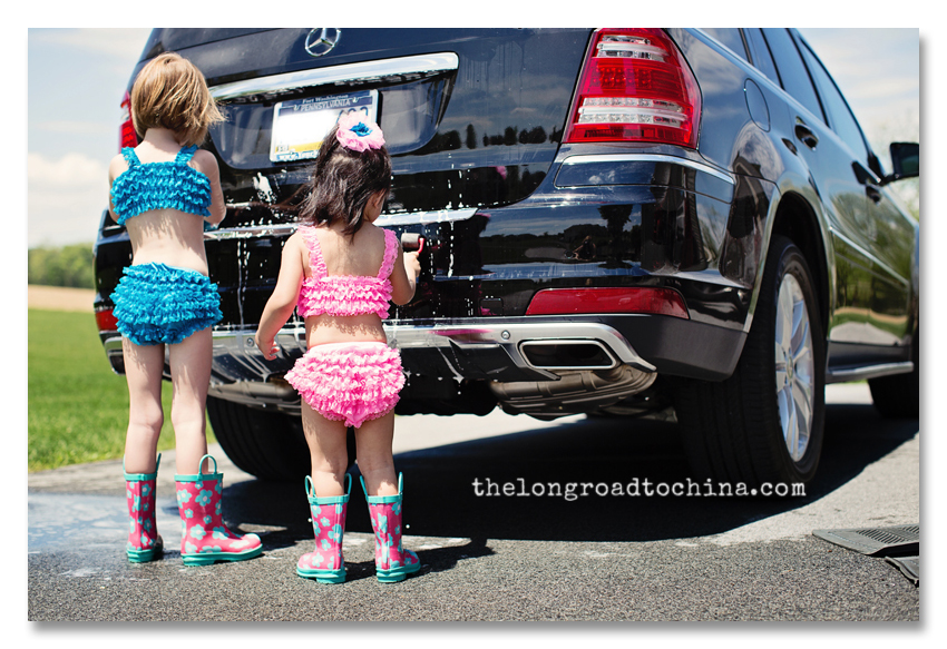 The girls washing my car BLOG